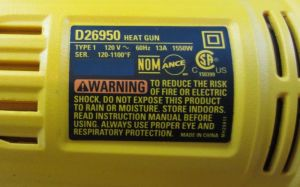 heat gun label